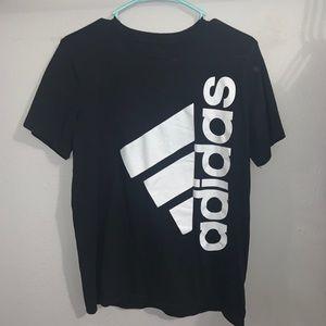 Adidas sideways logo.